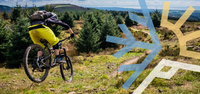 Single Track Mountain Biker (L)