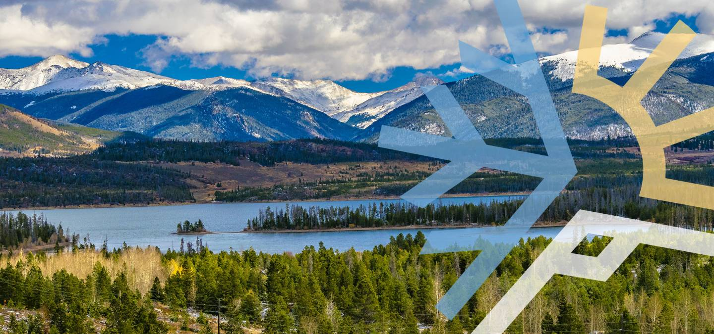 Snow Capped Peaks over Lake Dillon