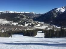 Wide open ski slopes, no crowds